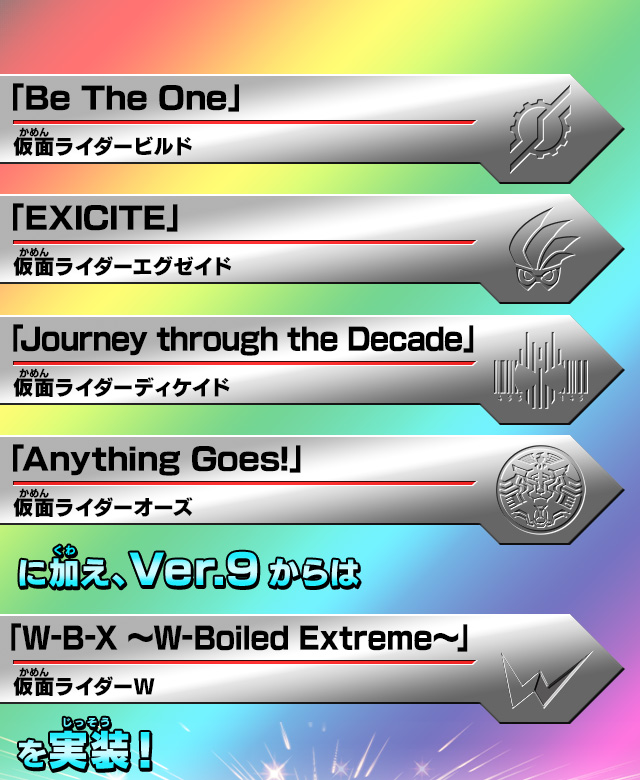 Ver.9からは「W-B-X ~W-Boiled Extreme~」を実装!
